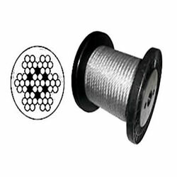 Cable Railing Type 316 Stainless Steel Wire Rope Cable 3/16 7x7 Coil And Reel