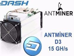 ANTMINER D3 - 15GHs DASH - NOW $2099 - Ready to Ship Today - FREE PSU INCLUDED