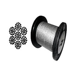 Cable Railing Type 316 Stainless Steel Wire Rope Cable, 1/4,7x19, Coil And Reel