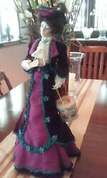 Rare Porcelain Gibson Girl Bon Voyage Doll By Dana Gibson From The Franklin Mint
