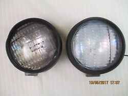 2 Vintage Signal-stat 620 Utility Tractor Head Lights Lamps
