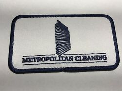 Metropolitan Cleaning Company Commercial Service Building Logo Embroider Patch E