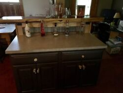 6 Foot Homemade Bar With Drawers And Cabinets On The Back Side