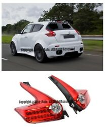 Rear Bumper LED Red Housing Clear Lens Tail lights MBRO For 11-14 Nissan Juke