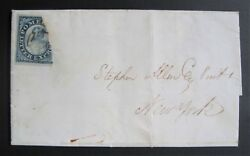Aug 9 1844 Pomeroy's Blue 117l3 On Cover With Folded Letter Payment Draft