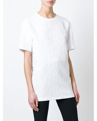 $950 New Givenchy Women#x27;s White Cloqué Oversized Top Size 38 White $95.00