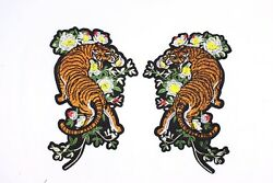 Gucci Style Tiger Patches (10 Pair) Iron On Big T-shirt DIY Embroidered Applique