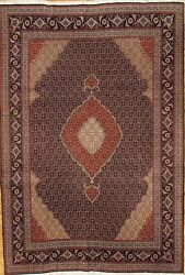 Pasargad N Y Fine Persian Tabriz Fish Design Silk And Wool Pile Rug - 6and0397 X 9and0396