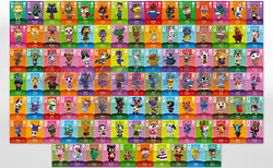 NEW Animal Crossing Amiibo Cards AUTHENTIC Series 4 #301 400 US YOU PICK