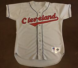 Rare Vintage Russell Cleveland Indians Casey Candaele Baseball Jersey