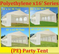 PE Party Tent Wedding Canopy Carport Shelter with Storage Bags - x16' Series