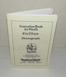 Cecilian Phonograph Instruction Manual Reproduction