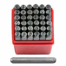 36 Piece 1/4 Steel Letter And Number Stamping Set Metal Stamps Alphabet Numerals