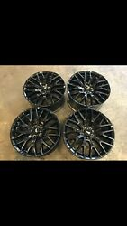 Ford Mustang 19 Inch Genuine Staggered Black Rims Near New
