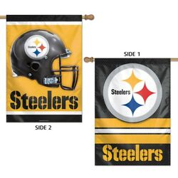 Pittsburgh Steelers Wincraft Nfl 28x40 2 Sided Banner/vertical Flag Free Ship