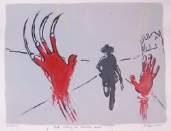 Philippe Le Miere Dead Walking The Zombies Horror Original Signed Painting Art A