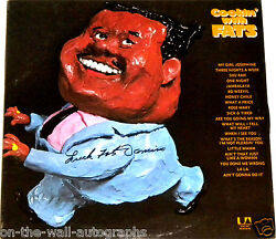 Fats Domino Rock Blues Hand Signed Autographed Cookin With Fats Album With Coa