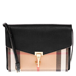 Burberry Small Leather and House Check Crossbody Bag 3980825