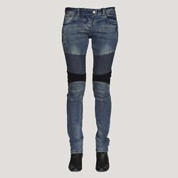 Dkshin French Ladies Japanese Selvedge Moto Jeans W/ Spandex For Amazing Comfo