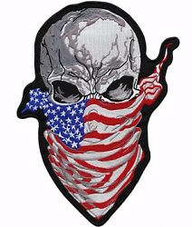 Ruthless Skull Patch | Us Flag Patriotic Military Skeleton | Embroidered Iron On