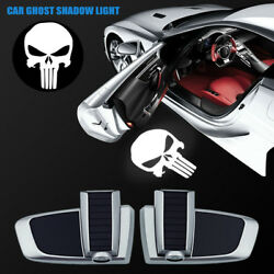 Wireless Car Door The Punisher Logo Chargeable Projector Ghost Shadow Step Light