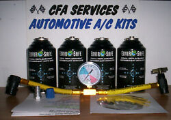 R12 Systems Compatible 4 Refrigerant Recharge Refill Kit Fitsall 1995 And Older