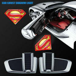 Wireless The Red Superman Logo Car Door Chargeable Projector Ghost Shadow Lights