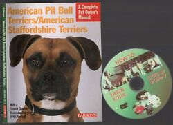 AMERICAN PIT BULL Terrierss  STAFFORDSHIRE TERRIER Owner Manual + FREE DVD