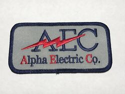 Aec Alpha Electric Co Company Commercial Electricians Contractor Logo Patch I