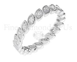 1.00 Carat Marquise Cut Diamond Eternity Wedding Ring Available In 18k Gold