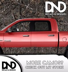 Camo Woodland Ghost Rocker Panel Wrap Graphic Decal Kit Truck Woods Camouflage