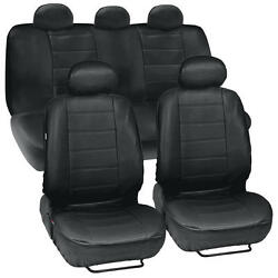 Prosyn Black Leather Auto Seat Covers For Volkswagen Jetta Full Set Car Cover