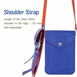 Candy  Small Cell phone Purse Bag Crossbody little Leather Pouch for Girl Blue