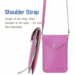 Candy  Small Cell phone Purse Bag Crossbody little Leather Pouch for Girl Pink