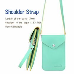 Candy  Small Cell phone Purse Bag Crossbody little Leather Pouch for Girl Green
