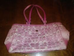 LK! Authentic Pink Coach Diaper Bag Designer Bag Michael Kors Dooney