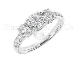 1.15 Carat Round Brilliant Cut Diamond Engagement Ring Available In 9k Gold