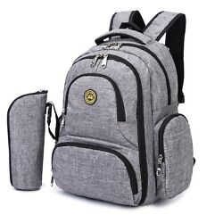 HARFING Waterproof Insulated Diaper Bag Backpack with Changing Pad