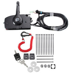 Boat Outboard Engine Side Mount Remote Control Box w 14 Pin Cable For Mercury