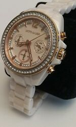 Wittnauer Ladies Blush Ceramic And Rose Gold W Scratch Proof Sapphire Glass Wn407