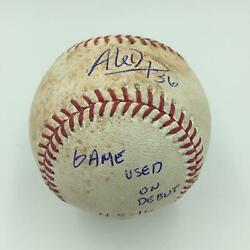 Aledmys Diaz Debut First Game Signed Game Used Baseball Jsa + Mlb Authentic