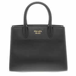 Prada Women's Watersnake Trunk Tote Bag Black