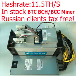Bitcoin BTC BCH Miner 11.5THS WhatsMiner M3 Cryptocurrency Maker With PSU Fast