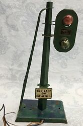 Vintage American Flyer Stop On Signal Light 0scale