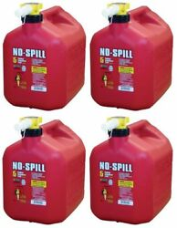 Lot Of 8 No-spill 1450 5-gallon Poly Gas Can Carb Compliant Red 5 Gal 8 Piece