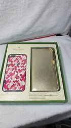KATE SPADE NEW GIFT SET iPHONE 6s PLUS HARD CASE HEARTS GOLD WRISTLET WALLET BAG
