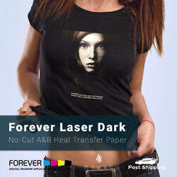 Forever Laser Dark No-cut A And B Heat Transfer Paper Free Shipping