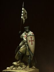Knights Templar With Flag Tin Painted Toy Soldier Pre-sale   Museum