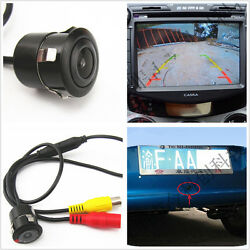 Car Rearview Backup Reverse Security 170º Ccd Wide-angle Camera And Drill For Jeep