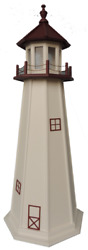Poly Outdoor Lighthouses Marble Head Oh Optional Lighting Yard Garden Landscape